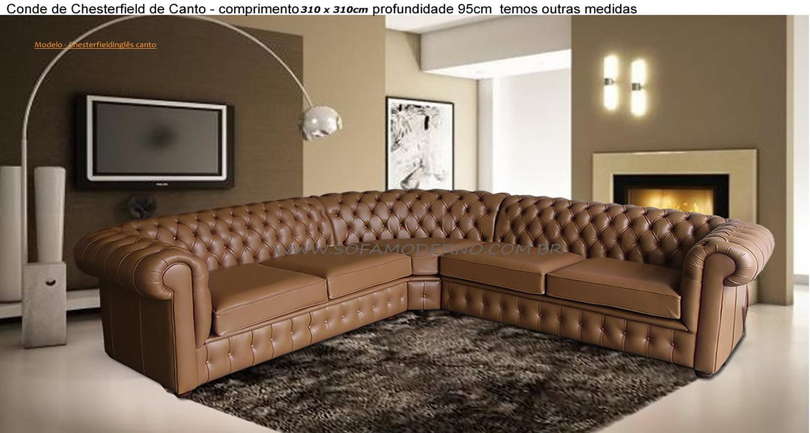 Ver Sofa De Fabrica Sofamoderno Com Br -> Estofados De Canto Confortavel Para Sala Pequena