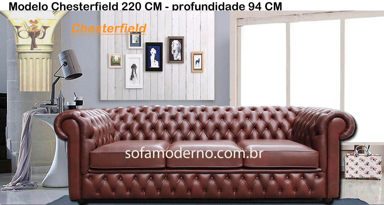 Sof estilo chesterfield couro leg timo couro - Modelos de cojines para sofas ...