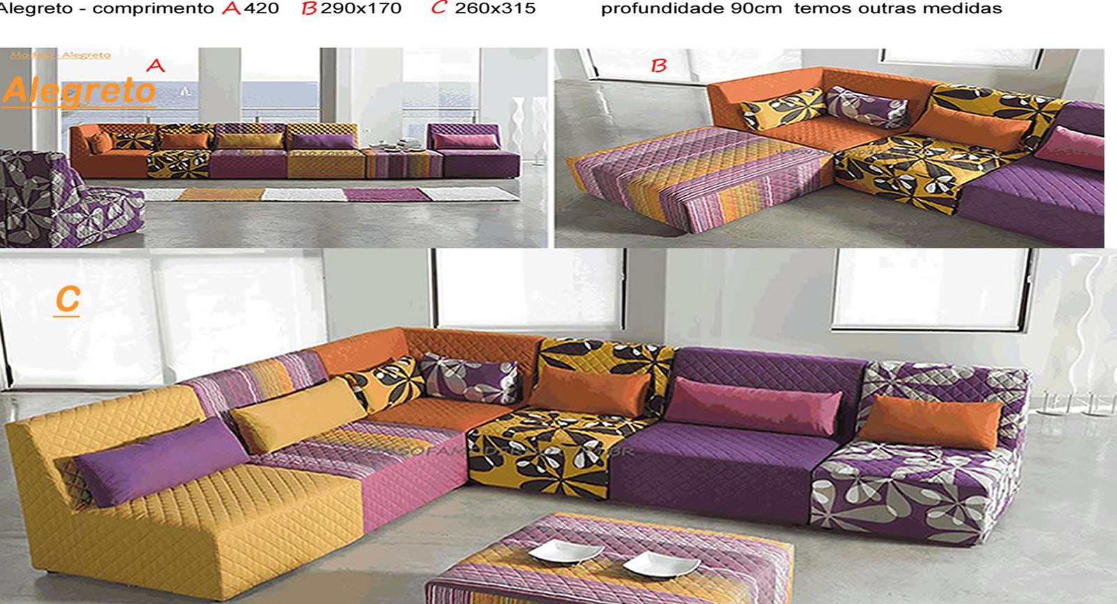 Sof retr til beleza e funcionalidade em 38 modelos for Sofas modulares